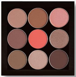Karity 9 Eyeshadow palette in Just Peachy.PNG