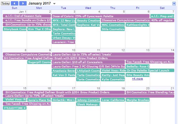 Makeup Product Release Calendar