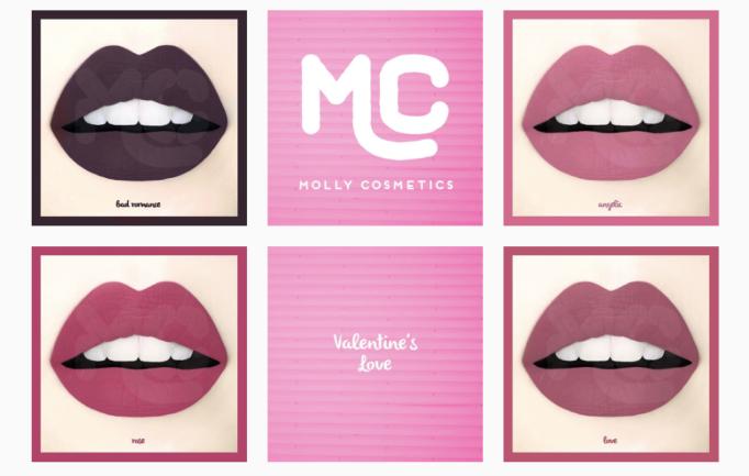 Molly Cosmetics: Valentine's Love Liquid Lipstick Collection