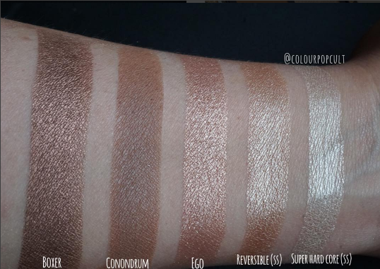 Colourpop Phase 3 Sand Collection Swatches