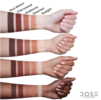 Dose of Colors Baked Browns Swatches