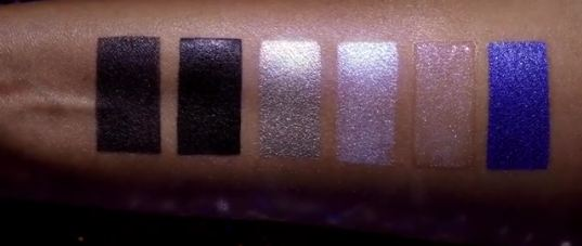 Pat McGrath Dark Star 006 ultraviolet blue Eye Kit Swatches