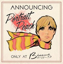 Besame cosmetics 1965 Portrait Peach Lipstick 3