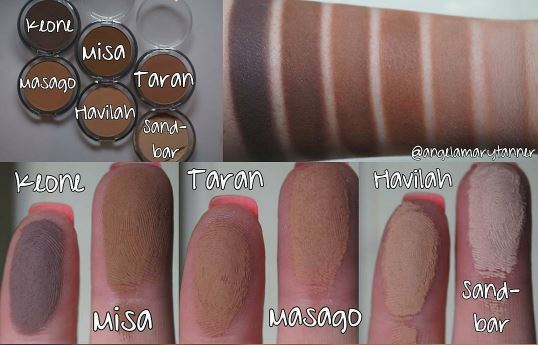 Devinah Cosmetics Natural Sunkiss Bronzers Swatches 2
