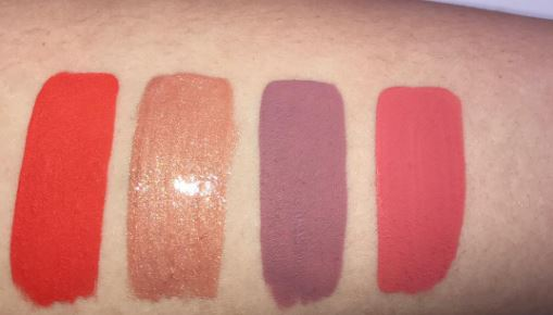 Kylie Cosmetics Koko Collection Lipstick Swatches