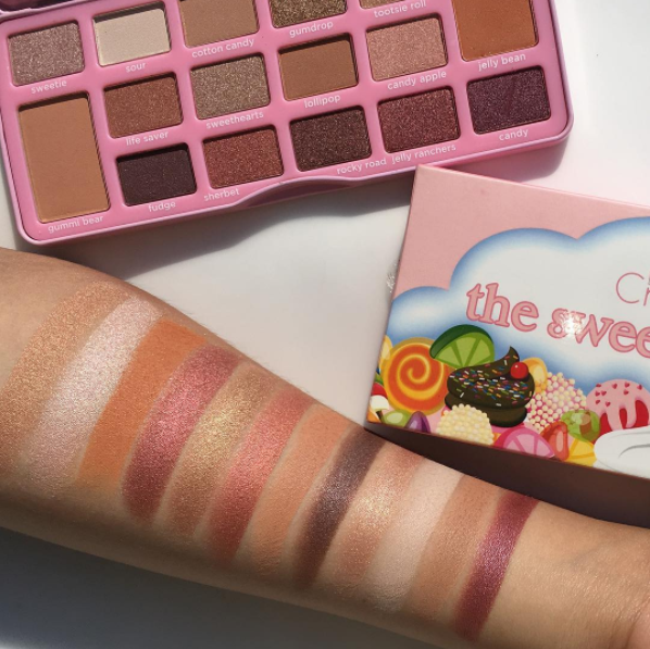 beauty creations the sweetest palette swatches