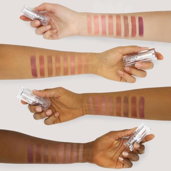 Becca Cosmetics Lush Lip Balm & Colour Swatches